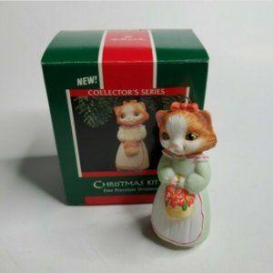 1989 Hallmark Keepsake Ornament Christmas Kitty